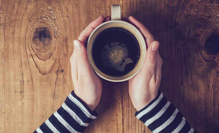 Перед питьем кофе