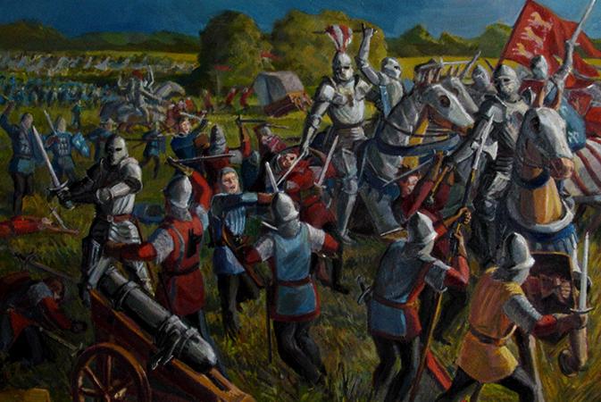 Солдаты на сражении