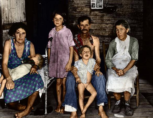 Семья во время великой депрессии