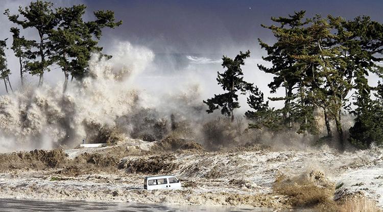Во время цунами
