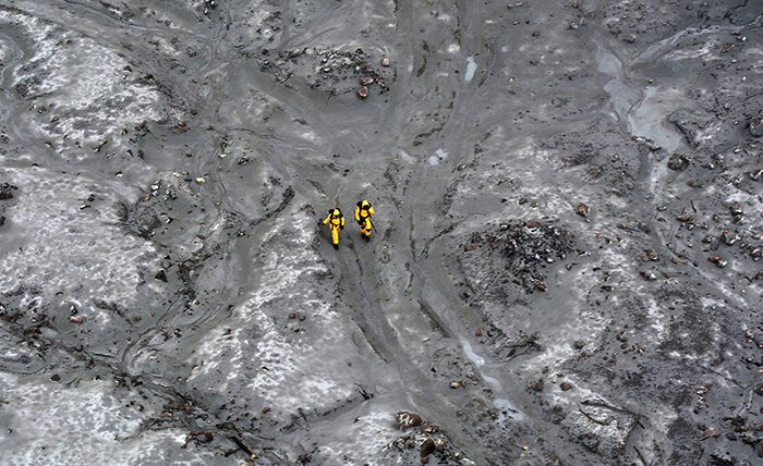После извержения вулкана