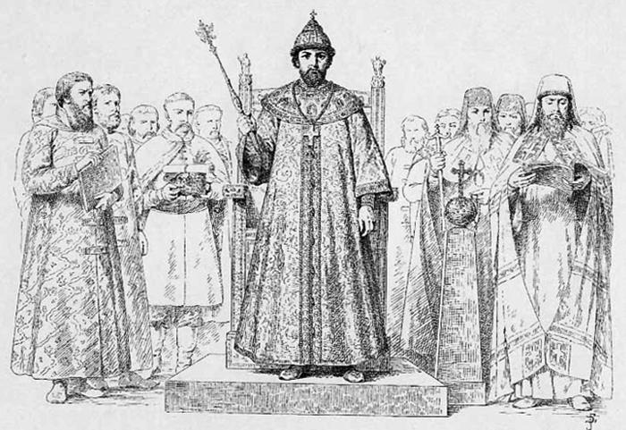 Алексей Михайлович на троне