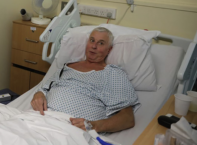 Мужчина в больнице после отека мозга