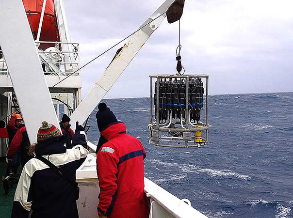 Океанологи на корабле