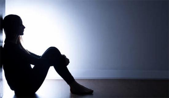 Девушка во время депрессии