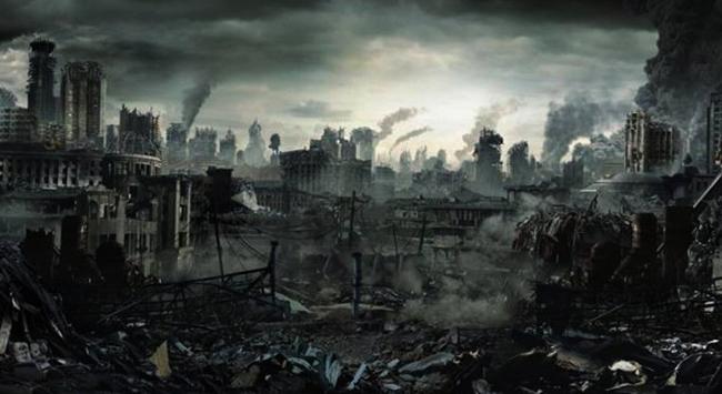 Город после взрыва
