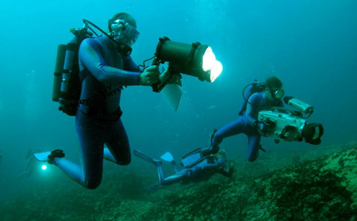 Океанологи за работой