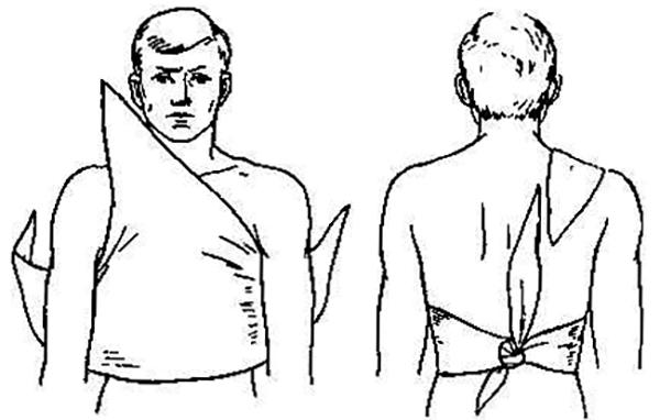 Повязка при травме грудной клетки