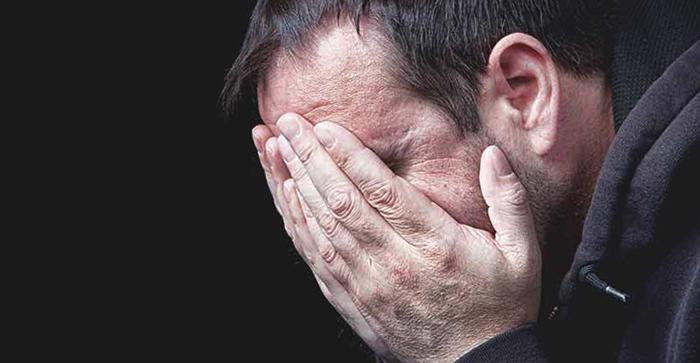 Мужчина с детской психологической травмой