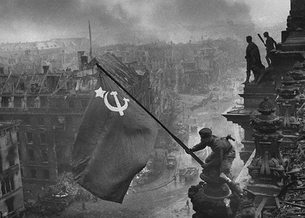 Советский флаг в Берлине