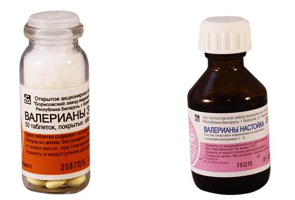 Таблетки и настойка валерианы