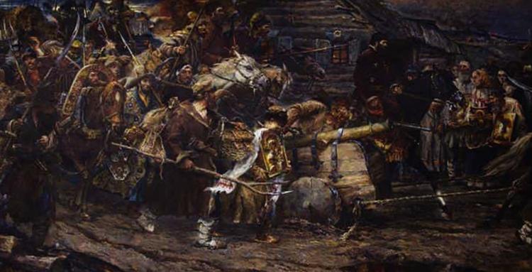 Во время бунта Пугачева