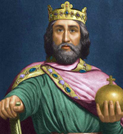 Карл Великий на престоле