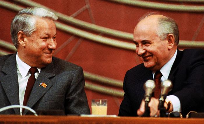 Ельцин и Горбачев