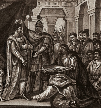 Мстислав Великий на престоле