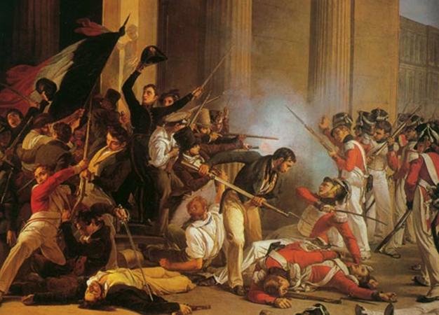 Во время революции 1830