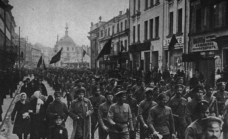 Шествие во время революции