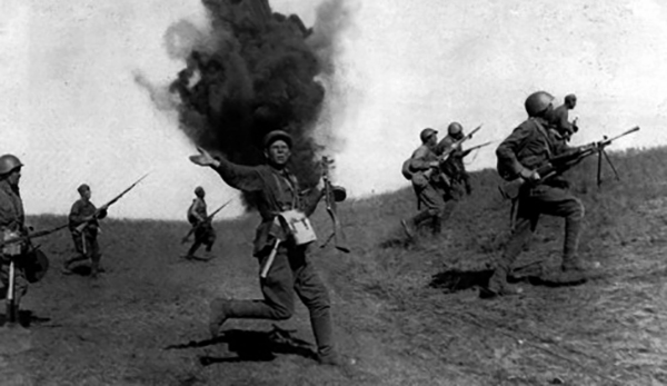 Солдаты во время ВОВ