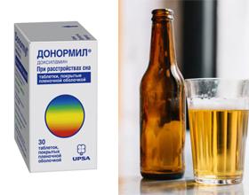 Донормил и алкоголь — возможные последствия совместного приема