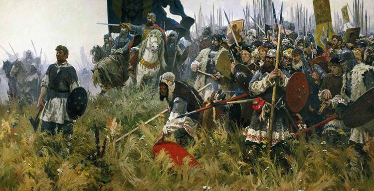 Войска перед Куликовской битвой
