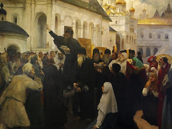 Во время выступления старообрядцев
