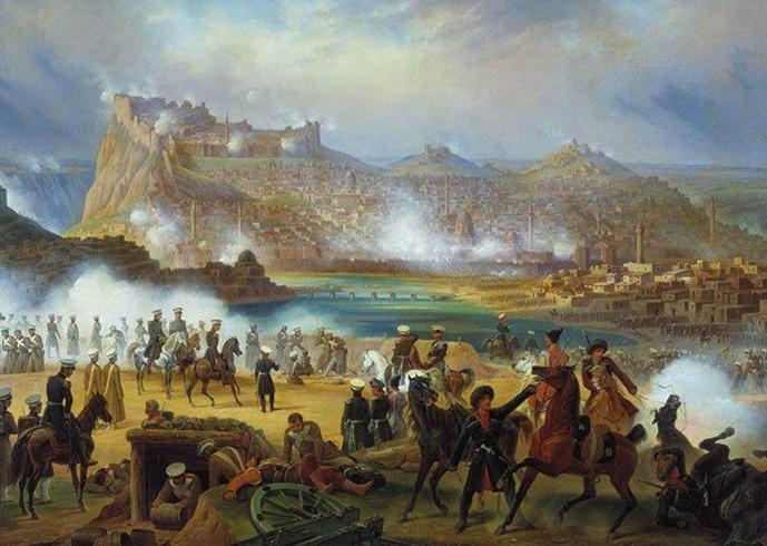 Сражение во время русско-турецкой войны