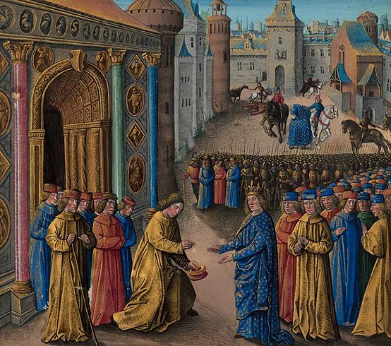Раймонд Пуатье приветствует Людовика VII в Антиохии